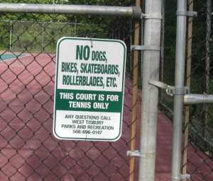 no dogs tennis