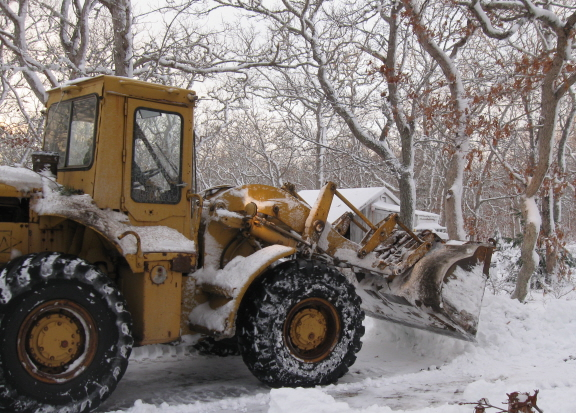 plow working