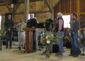 Members of Todd's men's group talked about how Todd had brought them together.