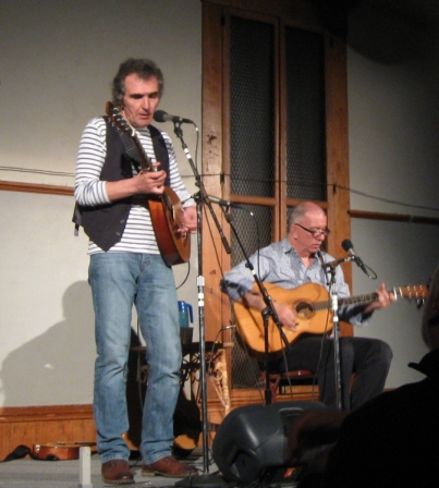Jez Lowe (left) and James Keelaghan