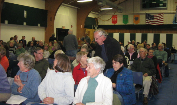Roughly half of the electorate Tuesday night at West Tisbury's special town meeting