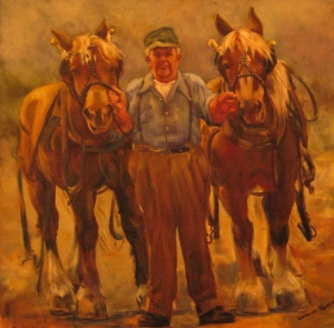 This portrait of Fred hangs in the Ag Hall. Painting by C. Kenney, photo by Randol Rynd.