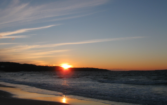Sunset, Lambert's Cove Beach, January 2014