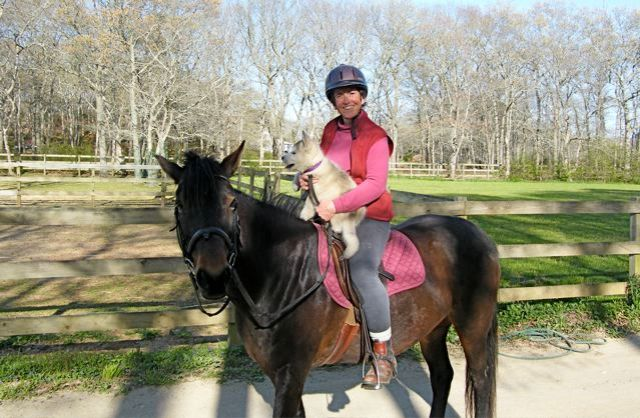 Trav's horseback-riding career was cut short by a growth spurt.