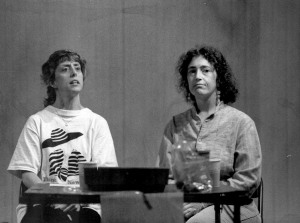 "Rehearsing ""Paper Whites"" for the Vineyard Playhouse's Spring Short-Play Festival, ca. 1993"