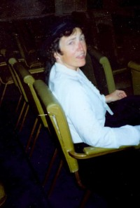 "Waiting to go on as Mrs. Winthrop in the 1999 ITW production of ""The Secret Garden"""