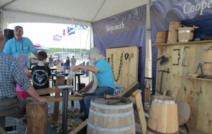 The cooper (barrel maker), smith, and carpenter were indispensable members of a ship's crew.
