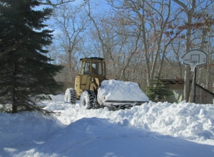 The plow guy arrives, January 29.