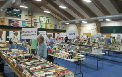 Readers who don't want to be led into temptation should avoid the book sale.