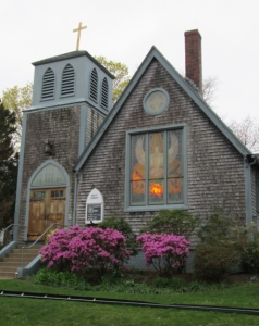 Grace Episcopal Church, Vineyard Haven, where I've attended many rehearsals, meetings, and memorial services over the years.