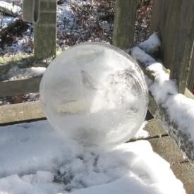 Snowy ice disk, November 13, 2013.