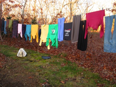 Late fall laundry line