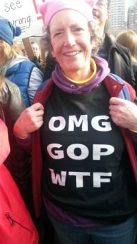 Me at the Women's March in Boston, January 21, 2017.