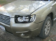 damaged car front