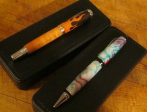 two pens in boxes